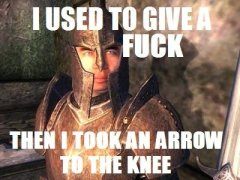 A meme from Skyrim